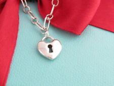 "New Tiffany & Co Silver Keyhole Bracelet 7"""