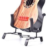 Ukulele Portable Foldable Stand Holder for Violin Bass Ukelele Uke Metal Blac YK