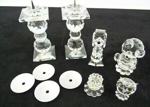 Swarovski Crystal Candle Holder Job Lot Figurines Bear Dog Owl