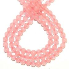 GR417j Rose Quartz Light Pink 6mm Round Polished Gemstone Beads 16""