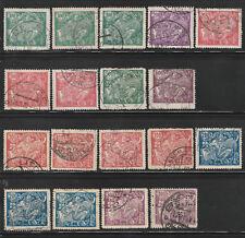 Tschechoslowakei, Freimarken aus Serie Allegorie , gestempelt