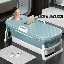 1.38m Large Bathtub Adult Children's Folding Tub Massage Adult Bath Barrel Steam
