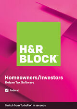 H&R Block Tax Software Deluxe 2019 (PC)