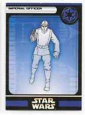 2004 Star Wars Miniatures Imperial Officer Stat Card Only Swm Mini