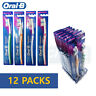 Oral-B Klassishe Handzahnbürste Regulär 40 Soft Bürste 12 Packs Indicator