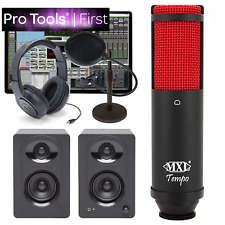 NEW Pro Tools First Home Recording Desk Bundle MXL Tempo KR Samson M30 & More