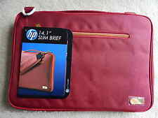"LUXURY Hewlett Packard HP 14.1"" Slim Brief Laptop bag satchel F0V85AA#UUF - RED"