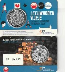 Nederland 2018 BU Coincard 5 euro - Leeuwarden Vijfje