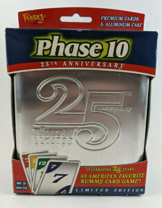 NEW Limited Edition 25th Anniversary Tin Phase 10 Rummy Card Game