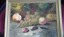 Original oil painting of still life, fruit