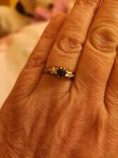 18ct Gold And Platinum Sapphire and diamond Ring