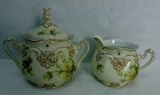 OHME, Hermann SILECIA OLD IVORY pattern Creamer & Sugar Bowl with Lid SET