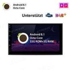 Android 8.1 AUTORADIO Navigation NAVI BLUETOOTH USB GPS 2 DIN WIFI IPS DAB MP3