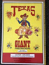 Vintage Texas Giant Firecracker Fireworks Poster