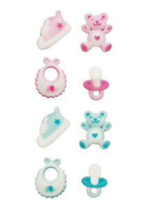 Baby Shower Party  Sugar Top Decor - Boy or Girl, Pink or Blue -  Kosher, 24 pk