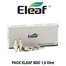 5 résistances ELEAF BDC 1,8 Ohm pour GS14, GS16, GS16s, IJUST, BCC-GT