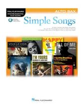 Simple Songs for Easy Beginner Alto Saxophone Pop Rock Chart Hits SAX MUSIC BOOK