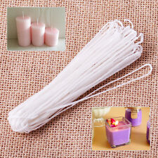 New White 10 Yard White Long Wax Candle Making Wick Flat Braided Cotton Core DI
