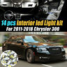 14Pc Super White Car Interior LED Light Bulb Kit for 2011-2018 Chrysler 300