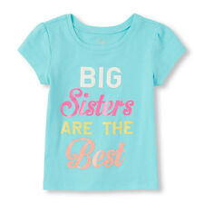 "~NEW~ ""BIG Sister"" Baby Girls Graphic Shirt 18-24 Months 2T 3T 4T 5T Gift! Teal"