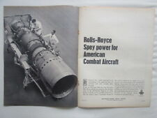 4/1967 PUB ROLLS-ROYCE SPEY 25 ENGINES MCDONNELL F-4K PHANTOM II ROYAL NAVY AD