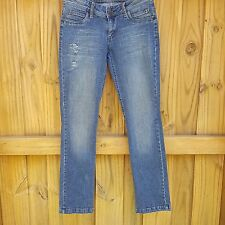 hbf Jeans Size  Meduim with flap pocket distressed sequence embroyered pockets
