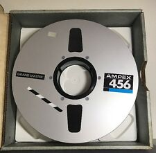 "AMPEX 456 GRAND MASTER 2in. Studio Mastering Audio Tape 2""x10.5"" Blank Tape"