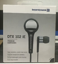 Beyerdynamic DTX102ie Stereo In Ear Small headphones Earphones Silver/Black new