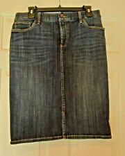 Chicos Slimming Jean Skirt Pencil Skirt Chicos Size 1 8 10