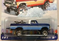 HOT WHEELS 2009 Holiday Rods TEXAS DRIVE EM (Ford F100 4x4 4WD)  BLUE VARIATION