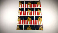 """Vintage USA United States Olympic Committee Torch Gift Wrap Paper 20 x 29"""" Sheet"""