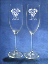 Nightmare Before Christmas Jack Sally Wedding Glasses simply meant to be