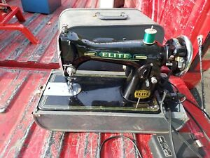 VINTAGE ELITE PORTABLE INDUSTRIAL SEWING MACHINE CHECK PHOTOS FOR CONDITION