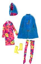 Vintage Barbie Doll FRANCIE-STYLE SETTERS #1268-Complete-Mod Floral/Blue Velvet