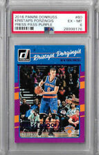 2016 Panini Donruss Kristaps Porzingis Press Pass Purple PSA 6  /199