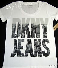 DKNY  Donna  Karan  New York  Tank T-shirt Tee Top Blouse White  T Shirt   NWT S