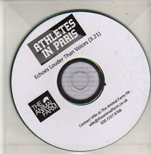 (CU571) Athletes In Paris, Echoes Louder Than Voices - 2012 DJ CD