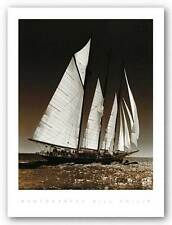 SAILING ART PRINT Sailing at Cowes II Bill Philip