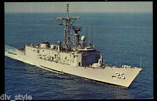 USS Copeland FFG-25 postcard  US Navy Ship guided missile frigate