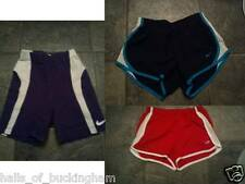 Set of 3 Athletic Running Shorts 2 NIKE Purple White Blue and 1 Champion Red
