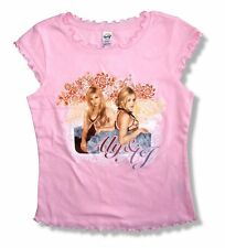 ALY & AJ - ORNATE PORTRAIT FRILLY PINK GIRLS T-SHIRT - NEW GIRLS MEDIUM M