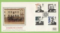 G.B. 1995 Communications set on PPS silk First Day Cover, Kidderminister H/S