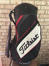 "Titleist Tour Mini Staff Golf Bag 9"" Top White Black Red Staff Golf Bag"