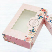 10 PCS Cardboard Cake Box Window Cupcake Takeaway Container Tray DIY Home Party