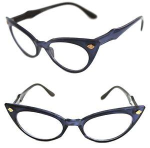 Women's Cat Eye Vintage Clear Lens Eye Glasses Purple Frame Retro Vintage Style