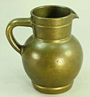 ! Antique 1800's Very Thick & Heavy Cast Bronze Pitcher Jug 19th c.