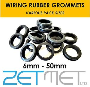 Wiring Rubber Grommets Open Hole Grommet Cable Piping Loom Gromet 6 - 50mm Sizes