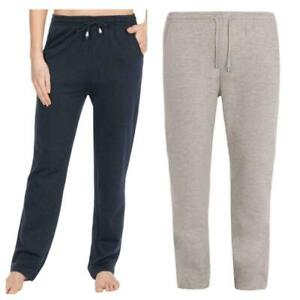 Ladies Plus Size Elasticated Poly Cotton Fleece Gym Jog Jogging bottoms 22-32