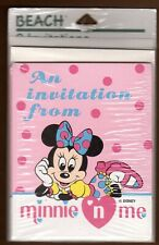 Vintage Minnie 'N Me Birthday Party Invitations 8 Ct Disney Minnie Mouse Pink