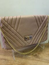 Accessorize Clutch Bag Dusky Pink Small Strap Wedding Party Ladies